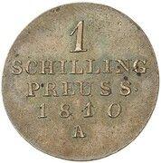 1 schilling Friedrich Wilhelm III (Frappe essai en cuivre) – revers