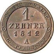 1 zehner Friedrich Wilhelm III – revers