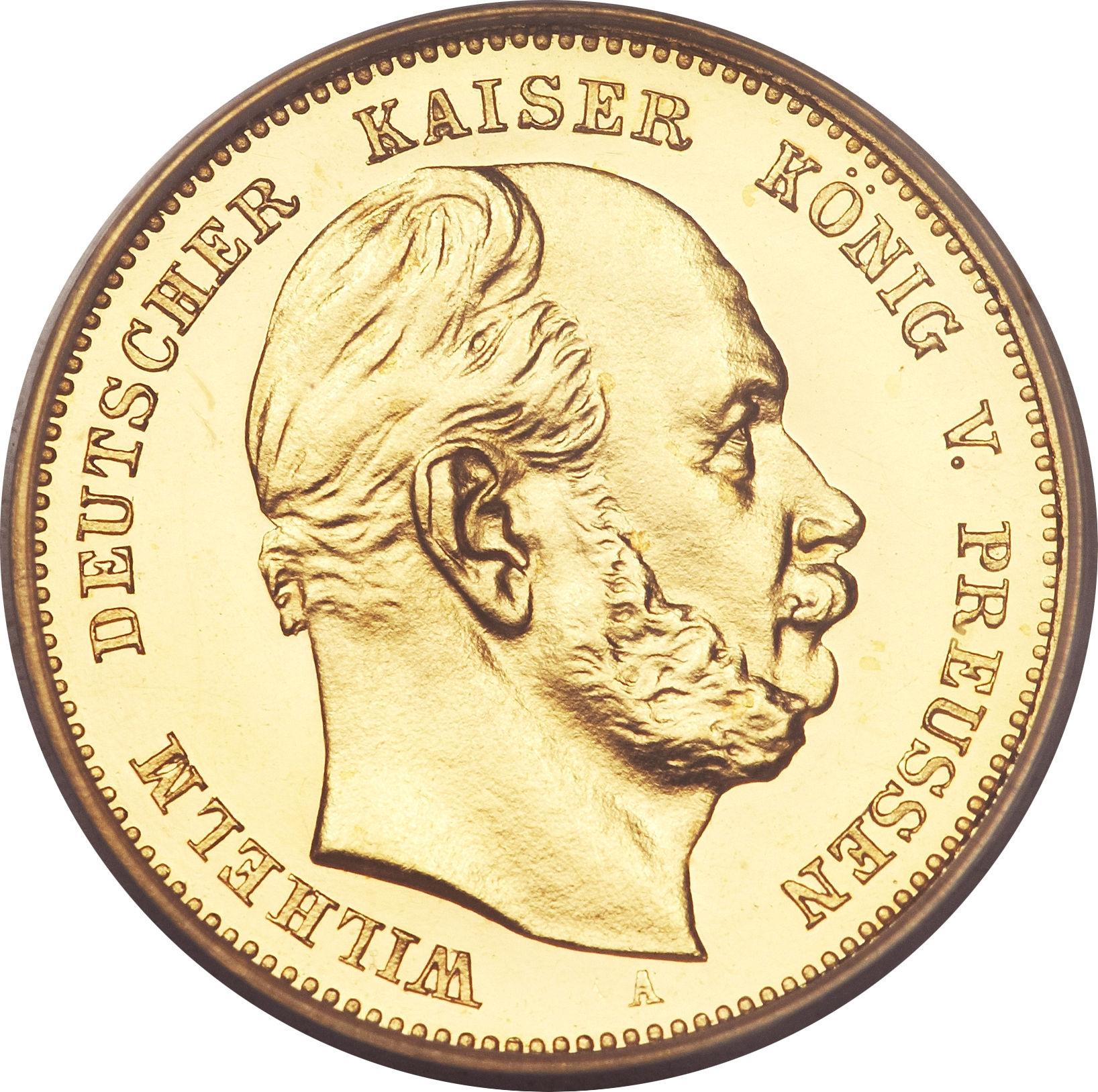 10 Mark Wilhelm I Royaume De Prusse Numista