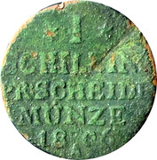 1 schilling - Friedrich Wilhelm III – revers