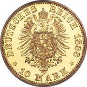 10 Mark - Wilhelm I – revers