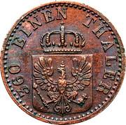 1 pfenning - Wilhelm I -  avers
