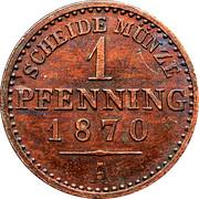 1 pfenning - Wilhelm I -  revers