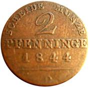 2 pfenninge - Friedrich Wilhelm IV -  revers
