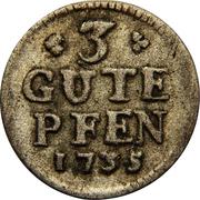 3 pfennig - Friedrich Wilhelm I – revers