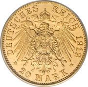 20 Mark - Wilhelm II – revers