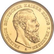 20 Mark - Friedrich III – avers