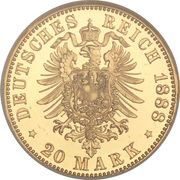 20 Mark - Friedrich III – revers