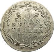 ⅓ reichsthaler - Friedrich II – revers