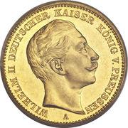 20 Mark - Wilhelm II – avers
