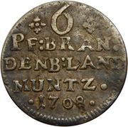 6 pfennig - Friedrich I – revers