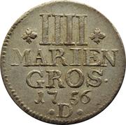 4 Mariengroschen - Friedrich II – revers