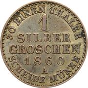 1 silbergroschen - Friedrich Wilhelm IV -  revers