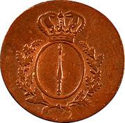 1 pfennig - Friedrich Wilhelm III – avers