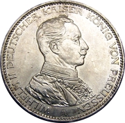 3 Mark - Wilhelm II – avers
