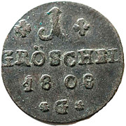 1 gröschel  - Friedrich Wilhelm III – revers