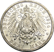 3 Mark - Wilhelm II – revers