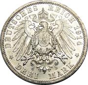 3 Mark - Wilhelm II – revers