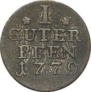 1 pfennig - Friedrich II – revers