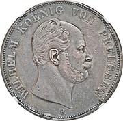 2 vereinsthaler - Wilhelm I – avers