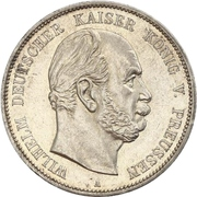 5 Mark - Wilhelm I – avers