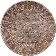 1 thaler - Friedrich Wilhelm IV – revers