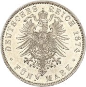 5 Mark - Wilhelm I – revers