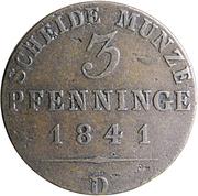 3 pfenninge - Friedrich Wilhelm IV – revers