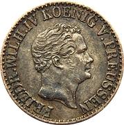 ½ silber groschen - Friedrich Wilhelm IV – avers
