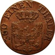 1 pfenning - Friedrich Wilhelm III – avers