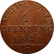 1 pfenning - Friedrich Wilhelm III – revers