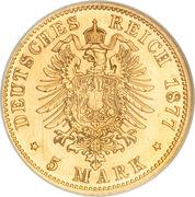 5 Mark - Wilhelm I – revers
