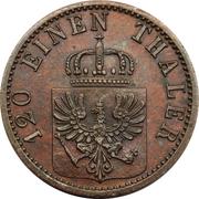 3 pfenninge - Wilhelm I -  avers