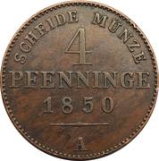 4 pfenninge - Friedrich Wilhelm IV -  avers