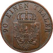 4 pfenninge - Wilhelm I – avers