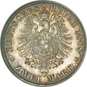 2 Mark - Wilhelm II – revers
