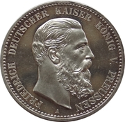 5 Mark - Friedrich III – avers