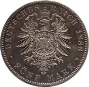 5 Mark - Friedrich III – revers