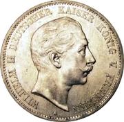 5 Mark - Wilhelm II – avers