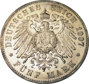 5 Mark - Wilhelm II – revers