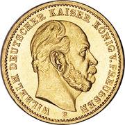 20 Mark - Wilhelm I – avers