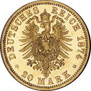 20 Mark - Wilhelm I – revers