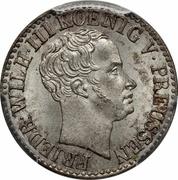 ½ silber groschen - Friedrich Wilhelm III – avers