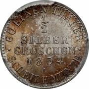 ½ silber groschen - Friedrich Wilhelm III – revers