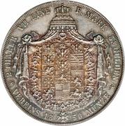2 thaler / 3½ gulden - Friedrich Wilhelm IV – revers
