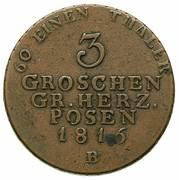 3 Groschen - Friedrich Wilhelm III – revers