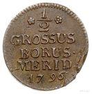 ½ Grossus - Fryderyk Wilhelm III – revers
