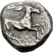 Trihemiobol (Psophis) – avers