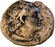 Tétradrachme de Ptolémée V Epiphane – avers