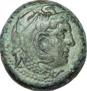 Chalque -  Ptolémée II Philadelphe (Avec Alexandre le Grand) – avers